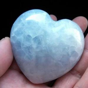 3-4 pouces Cristal Coeur Rare Naturel Glace Ciel Bleu Celestine Druzy Reiki Madagascar Spécimen Métaphysique Minéral Cicatrisant