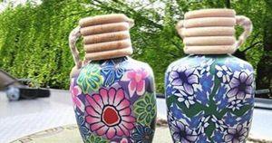 Moda Sıcak 15 ml Araba dekorasyon Seramik özü yağı Parfüm şişesi asın ip boş şişeyi asmak