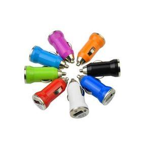 Per Iphone7 Caricabatterie USB Caricatore per auto colorato Bullet Car 5V 1A Adattatore per caricatore per auto mini USB per Smart Phone Mp3 Mp4 Tablet Diretto dalla fabbrica
