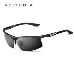 VEITHDIA Aluminium Magnesium Herren Sonnenbrille Polarisierte Männer Beschichtung Spiegel Gläser oculos Männlichen Brillen Zubehör