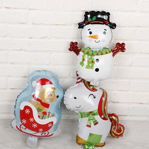 Merry Christmas Alüminyum Folyo Balonlar 30 adet 16 inç Kardan Adam Unicorn Geyik Şişme Hava Globos Noel Partisi Süslemeleri Çocuklar