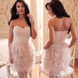 2019 роскошные коктейльные платья страуса перо выпускное платье красивые розовые возлюбленные женские женщины носить особое время платье вечерняя вечеринка