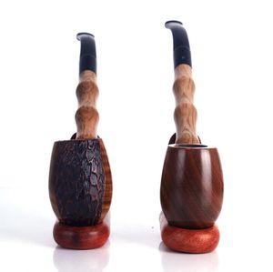 Oyma oyma Yeşil Sandal ağacı boru uzun çubuk şantuk pürüzsüz ahşap katı modelleme ahşap taşlama tütün sapı