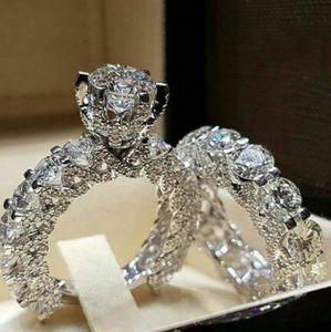 Yeni aksesuarlar, moda, yüksek kaliteli tam elmas, tam zirkon, yüzük, bakır, platin, beyaz altın, kadın nişan, düğün yüzük