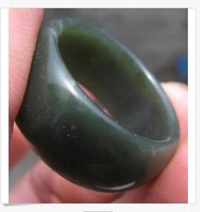 HOT neue seltene natürliche natürliche hetian Jade Nephrit Hand geschnitzten Drachen Ring size13.5 Nephrit Hand geschnitzten Drachen Ring