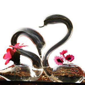 Onnpnnq cisne de vidro de vidro vaso decoração casa vidro terrarium vaso para decoração de casamento vasos de flores decorativos para casas