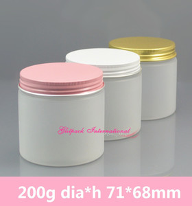 30pcs 7oz frosted Cosmetic Jar 200g plastic jars cosmetics wholesale 200ml cosmetic organizer makeup packaging design container jar 7oz.