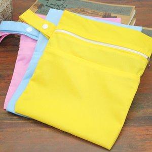 Durable Diaper Bags Solid Double Zippered Wet Dry Bag Waterproof Wet Cloth Diaper Stroller Hanging Outdoor bag