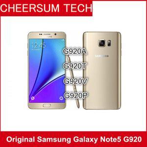الأصلي سامسونج غالاكسي ملاحظة 5 N920A N920T N920P N920V N920F تجديد مقفلة الهاتف الثماني الأساسية 4GB / 32GB الهاتف المحمول