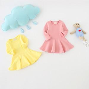 2017 sommer Baumwolle Bogen New Born Baby Kleid Mode Baby Strampler Für mädchen Frühling Herbst Kinder Infant Kleidung Baby Mädchen Kleider