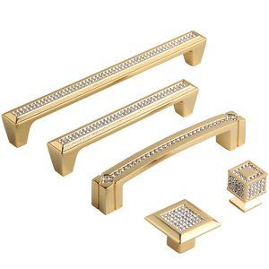 """192mm moda deluxe K9 cristallo villadom mobili maniglia argento oro diamante cassetto cabibet armadio quadro manopola tirare 5 """"Solid"""