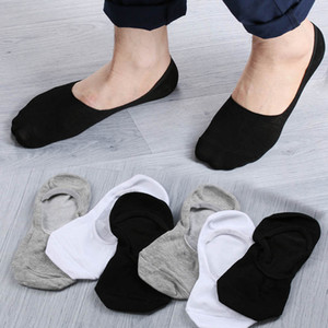 New 10Pair Casual Men Loafer Boat Non-Slip Invisible Short Socks 5 Colors No Show Nonslip Liner Low Cut Cotton Soft Socks
