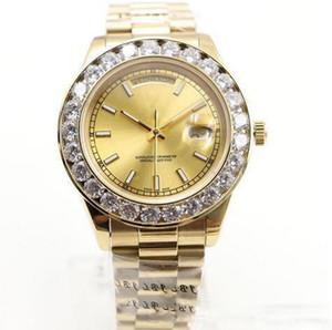 2019 Nuevo reloj de oro de 18 quilates DayDate Diamonds Reloj de hombre Reloj de pulsera con reloj automático de diamantes de acero inoxidable para hombre