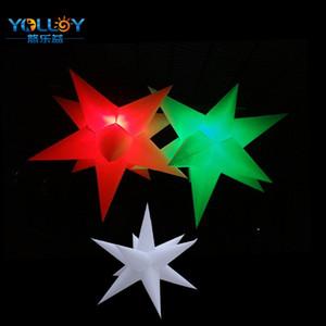 LED RGB ışıkları şişme yıldız aydınlatma açık veya kapalı dekorasyon için asma yıldız ışıkları