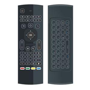 Venta caliente 2.4G Control Remoto mx3 retroiluminación Mini Teclado Inalámbrico y Ratón de aire para android tv box