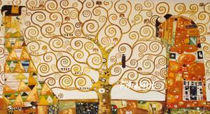 Reprodução da pintura a óleo da arte da pintura artesanal de alta qualidade do famoso artista gustave klimt lona arte pintura da lona quarto fine art dor