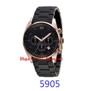 Reloj de acero de lujo de oro negro Reloj de oro de lujo de la marca de fábrica famoso Hombres Reloj de oro AR5890 AR5891 AR5905 Reloj de cronógrafo de AR5906 AR5920 AR5920 Reloj de cuarzo