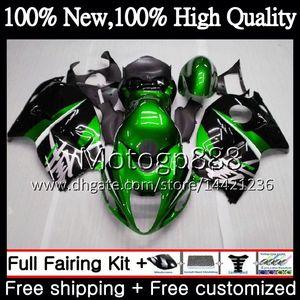 Cuerpo para SUZUKI Verde negro Hayabusa GSXR1300 96 07 GSX R1300 56PG00 GSXR-1300 GSXR 1300 1996 1997 1998 1999 2000 2001 Carenado Carrocería