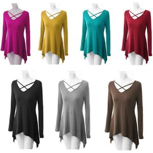 Summer Long Sleeve Dresses Basic Long Shirt Plus Size Comfy Shirts Tops O Neck Fashion T-Shirt Women Dress