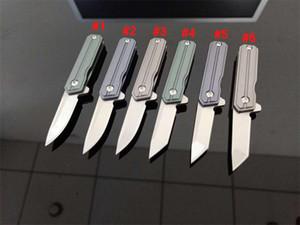 프로모션 6 스타일 미니 소형 플리퍼 접이식 나이프 D2 스톤 워시 블레이드 TC4 티타늄 합금 야외 EDC 포켓 나이프