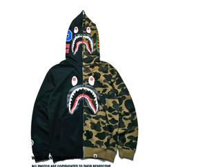 Jacken Jogging Sportswear Zipper Fleece Sweatshirts T-Shirts Drake Schwarz Hip-Hop Stussy Hoodie Herren Sharks Mouth Camouflage