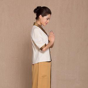 Abbigliamento per la salute pediluvio Abiti uniformi Tecnico SPA Tailandia Abbigliamento per massaggi Estetista Tuta Ospedale Infermiera Salute Sauna