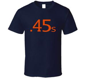 Houston Colt 45s Retro Baseball T Shirt Dos Homens Da Marinha Tee Fan Presente New Tops 2018 Imprimir Letras Homens T-shirt