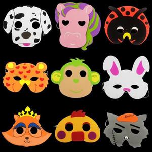 Enfants Eva Animal Bande Dessinée Masque Éléphant Tigre Articles De Fête Mousse Masques Complets Enfants Jour Cadeau Jouet Perfomance Prop 0 72cl ff