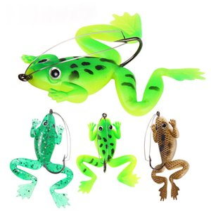 Topwater Swimming Artificial Rubber Ray Frog Lure 6cm 5.2g Lifelike Frog Blackfish Soft Bait Float Popper Shad lure Baits