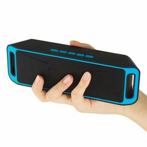 SC208 Altoparlante Senza Fili Bluetooth 4.0 Stereo Subwoofer Altoparlanti TF USB Radio FM Built-In Mic Doppio Bass cassa di Risonanza Caixa