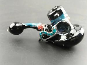 Tubi fatti a mano variopinti per fumare la pipetta della mano di fumo di spicco del tubo di vetro di 16cm Trasporto libero