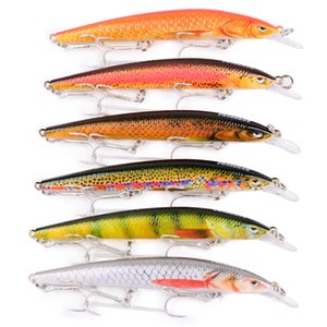 New Escape Swimming Minnow Wobbler Laser Crankbait fishing lure 11cm 9g Colorful Painted Bass swimbait with 3 BKB Hooks