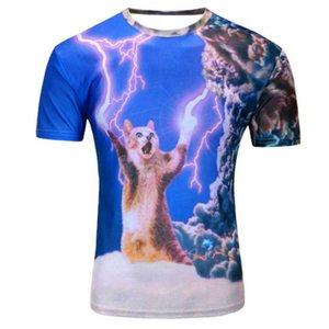 Новый galaxy space 3D футболка прекрасный смешные топы с коротким рукавом летние рубашки для мужчин