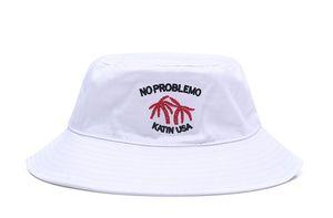Nouvelle arrivée Casual chapeaux de seau parasol en plein air NO PROBLEMO KATIN USA chapeau de soleil pêche mens sports hip hop pêcheur casquettes