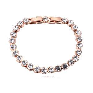 Высокое качество известный бренд круглый дизайн сделано с кристаллом Swarovski любовь теннис браслет для женщин свадебные украшения аксессуары Подарок