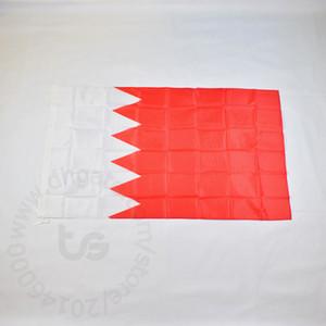 Bahrein bandeira nacional bandeira livre 3x5 transporte FT / 90 * 150 centímetros Hanging bandeira Bahrain National Home Decoração