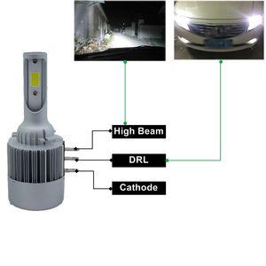 2Pcs H15 Auto ha condotto la lampadina Lampada Super Bright COB LED Faro Auto LED Sostituzione sostituzione Canbus gratuito per auto Automobile