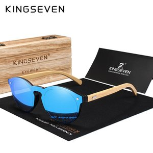 KINGSEVEN Occhiali da sole Uomini Occhiali da sole di marca delle donne di bambù del progettista originale di legno Occhiali masculino