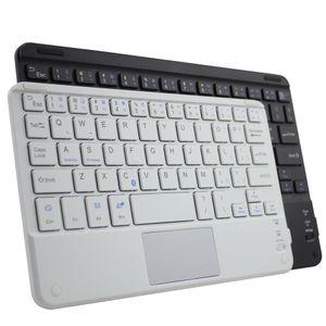 59 مفتاحًا من مفاتيح Bluetooth المصغرة 3.0 لأجهزة الكمبيوتر اللوحي اللوحية دعم الهواتف الذكية لنظام iOS Windows Android الأبيض والأسود