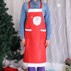Рождественский Санта-Клаус фартук с карманами ткани Кухня Кулинария Принадлежности для дома выпечки Чистый Dinneer партии украшения WX9-1058