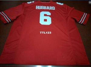 Hombres # 6 Sam Hubbard Ohio State Buckeyes College Jersey blanco rojo negro personalizado S-4XLor personalizado cualquier nombre o número