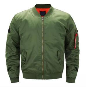 Мужские куртки Осень Зима Мужчины Сплошной цвет пальто весна MA1 Bomber Jakcet Mans Pilot Верхняя одежда