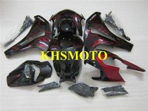 Juego de carenado rojo flames negro para HONDA CBR1000RR 08 09 10 11 CBR-1000RR CBR 1000RR 2008 2009 2010 2011 Motorcycle Fairings set
