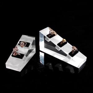 Anello esposizione acrilica dei monili cavalletto laterale Boutique contatore Shelf Desktop Kiosk Booth Gioielli Anelli Exhibition Holder all'ingrosso della Cina