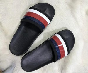 Couple models sandals and slippers designer shoes luxury slides summer fashion wide flat bottom slippers sandals and slippers size 35-45 box