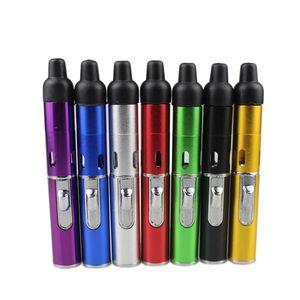클릭 Vape 기화기 펜을 몰래 담배를 피우는 담배 건조를위한 금속 파이프 기화기 담배 토치 부탄 DHL