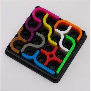 Curvas locas Puzzle creativo Juguetes 6x6 cm Niños Educación temprana Desarrollar Inteligencia Inteligente Juego de lógica Juego divertido Juguetes