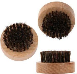 Natural Boar Borste Bart Pinsel Schnurrbart Militär Runde Holzgriff Männer Bart Pinsel Gesicht Nachricht Gesichtsbehaarung Bart Öl