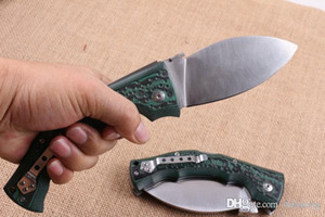 COLD STEEL dogleg Dogleg Messer griff grün-faltendes Taschen-kampierende Überlebens-Messer-Weihnachts Messer Geschenk Messer 1pcs Freeshipping