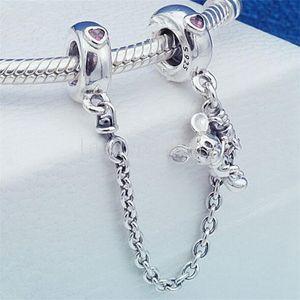 2018 New Mother's Day 925 Sterling Silver catena di sicurezza fascino tallone adatto a gioielli europei bracciali collane ciondolo